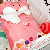 Cartoon Dog Children Sleeping Bag - Pure Cotton AB Side Healthy Anti-kicking Quilt Baby Kindergarten Camping 55 X 31 Inch Christmas Gifts Pink