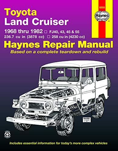 Haynes Manuals 92055 Toyota Land Cruiser FJ40, 43,45, 55 & 60,'68'82 (Haynes Repair Manuals), Tan (The Best Land Cruiser Model)