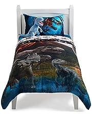 Franco Jurassic World Predator Run Twin Full Comforter And Twin Sheet Set