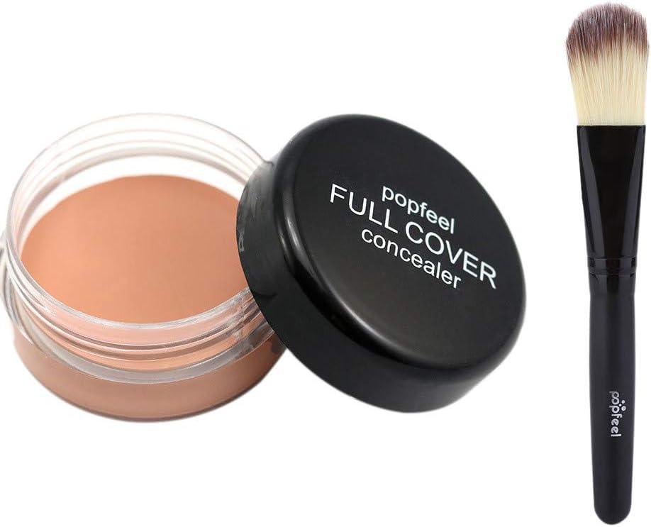 Toamen Popfeel Corrector De Maquillaje Facial Corrector Hidratante Cremoso De La Paleta De La FundacióN (B1): Amazon.es: Belleza