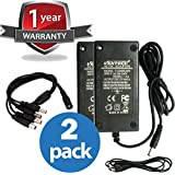 VENTECH (2 Pcs) 60 Watt (5 Amp) 12 Volt DC LED Light Strip Power Supply 110V AC to 12V DC Transformer - Driver for LED Tape Light and Other Low Voltage Devices (Security Systems, and More)