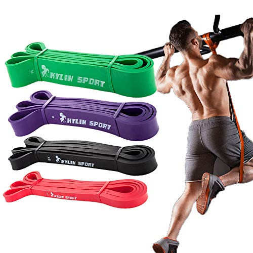 Fitnessband Widerstandsband Set, Klimmzug Theraband Resistance Bands, Fitnessbänder Gymnastikband für Krafttraining Crossfit Exercise, Trainingsband Fitness Bänder für Pilates Yoga Zuhause Workout Gym