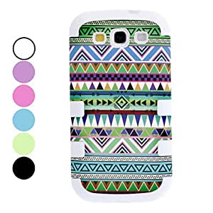 GHK - Detachable Stripe Pattern Hard Case for Samsung Galaxy S3 I9300 (Assorted Colors) , Blue