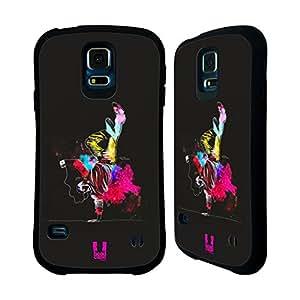 Head Case Designs One Hand Stand Dance Splash Hybrid Gel Back Case for Samsung Galaxy S5