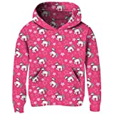 BFUSTYLE Girl's Unicorn Star Design Pullover Hoody with Pocket Lovely Pink Hooded Sweatshirts & Hoodies for Kid 4-14 Years Old
