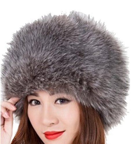 Alion Women's Winter Trapper Faux Fur Pilot Hat Ear Flaps 1 OS