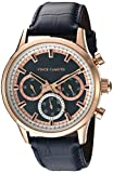 Vince Camuto Men's VC/1089NVRG Multi-Function Dial Navy Blue Croco-Grain Leather Strap Watch