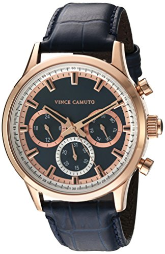 Vince-Camuto-Mens-VC1089NVRG-Multi-Function-Dial-Navy-Blue-Croco-Grain-Leather-Strap-Watch