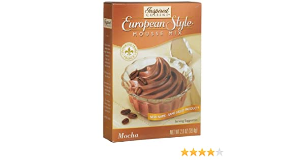 Amazon.com : Inspired Cuisine Mousse Mix, Mocha, 2.8-Ounce Boxes (Pack of 8) : Pudding Mixes : Grocery & Gourmet Food