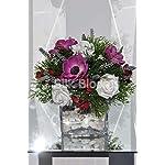 Silk-Blooms-Ltd-Artificial-Scottish-Purple-Anemone-and-Pink-Freesia-Flower-Arrangement-wLavender-and-Asparagus-Fern