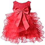 BHL Baby Girl Pageant Dress Organza 9 Month Red
