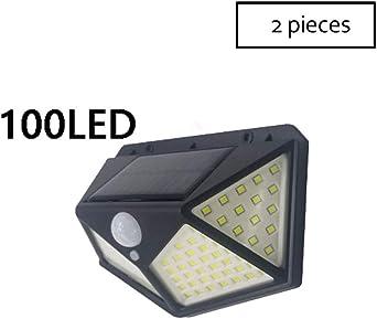 Focos Solares, Solares LED Apliques De Pared, Luz Solar Exterior Con Sensor De Movimiento,Luces Solares Para Jardins, Garaje, Acera, Escaleras (Size : 100LED): Amazon.es: Iluminación