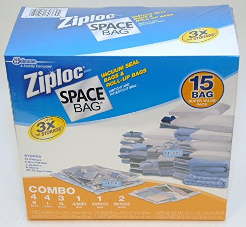 Ziploc Space Bag 30 Bag Space Saver Set (m5tk2q) by Ziploc