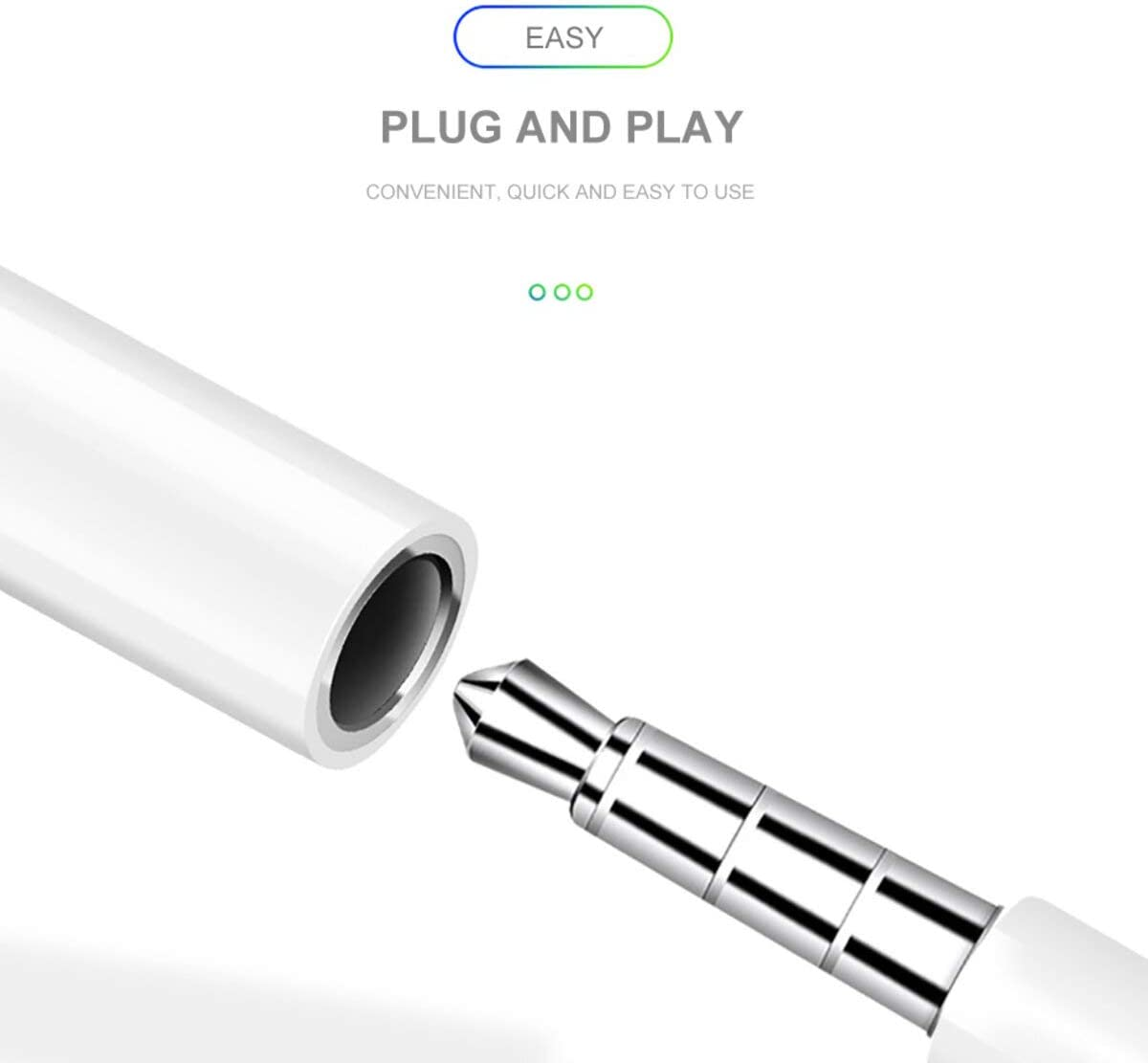 2 Pack Plug and Play 3.5mm Headphone Dongle Connector Compatible with iPhone 11 X//XS//Max//XR 7//8//8 Plus Lightning to AUX 3.5mm Headphone Jack Audio Cable Adapter Apple MFi Certified