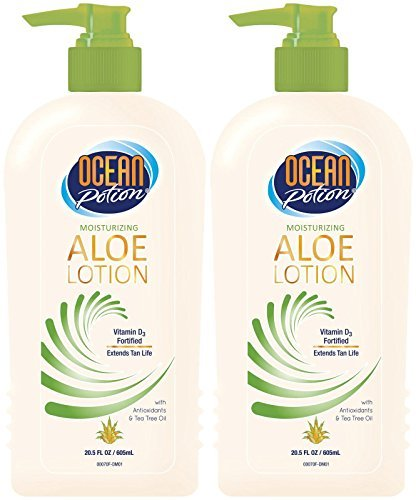 Ocean Potion Aloe After Sun Lotion-20.5 oz, 2 pack (Banana Boat Moisturizing Aloe After Sun Lotion)