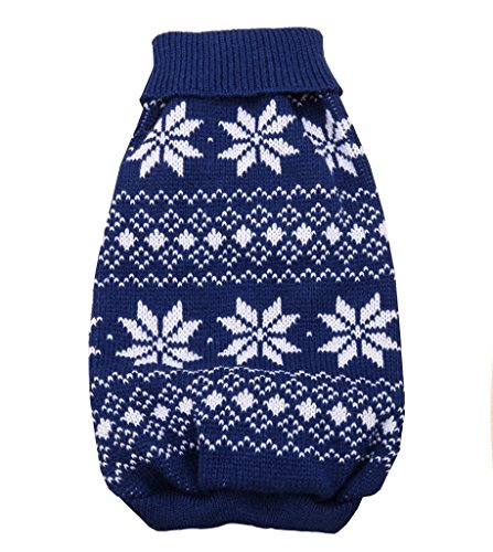 PetBoBo Pet Dog Cat Christmas Snowflake Costumes Sweater Clothes for Small Medium Large Dogs Cat Puppy Kitten Christmas Boy Girl (M) (Snowflake Cat)