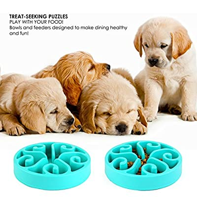 Pedy Pet Fun Feeder Dog Bowl Slow Feeder, Slow Feed Dog Bowl, Bloat Stop Dog Bowl, Slow Feed Interactive Puzzle Non-Skid