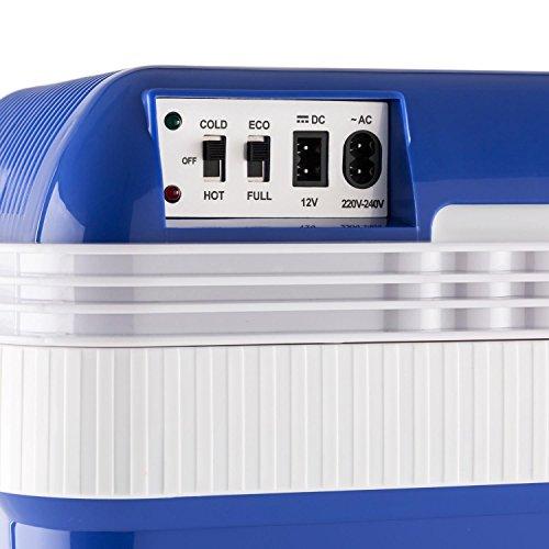 Klarstein Big Picknicker Glacière thermoélectrique • Mode éco silencieux et respectueux de l'environnement • Grille amovible • Lavable au lave-vaisselle • 2 modes de fonctionnement • Réchauffer ou rafraîchir • 24L • Classe énergétique A++ • Bleu