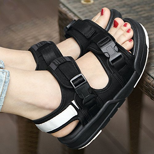 Sandalias Verano white and Sandalias Zapatos Amantes Black Mujer Xing Lin Zapatos Dama De Casuales De Exterior Sneakers Estudiante qSWCn5xwH4