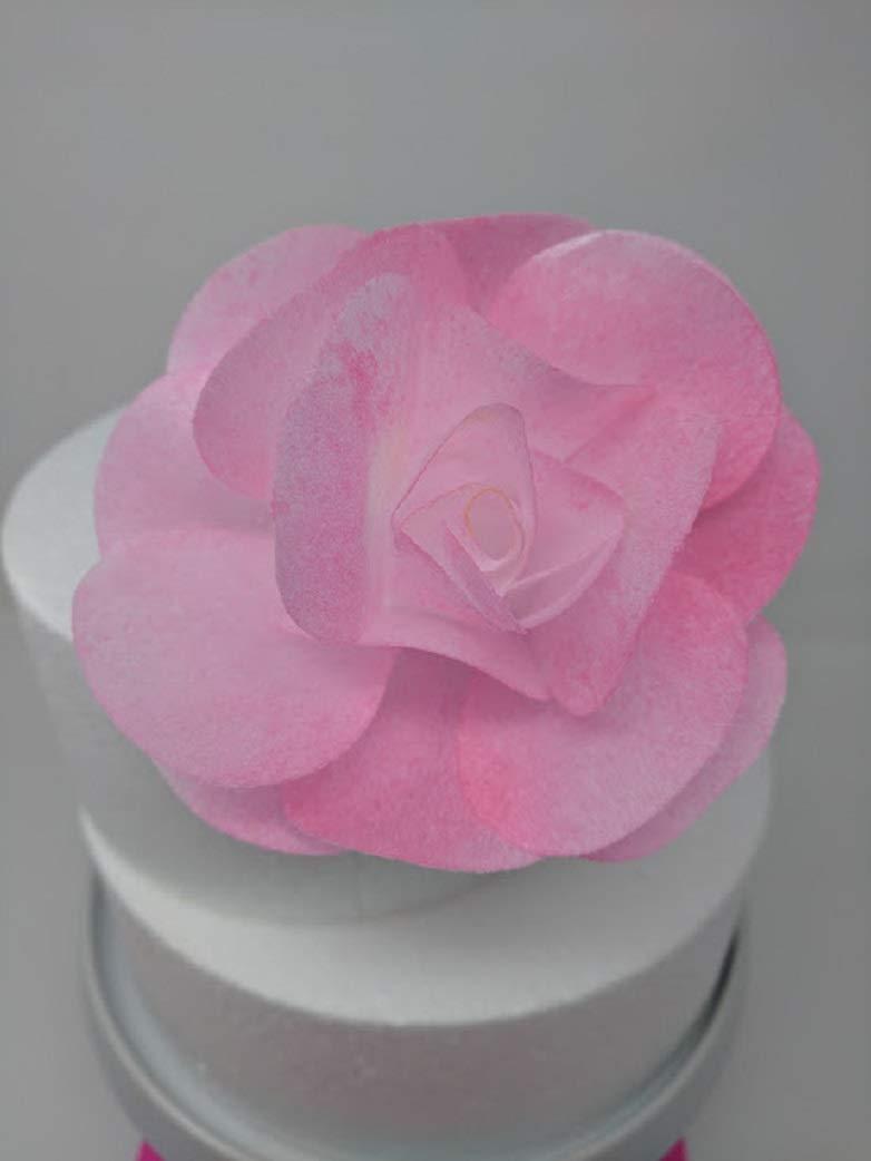Amazon Com 3d Edible Rice Paper Rose Flower For Cake Decoration 3d