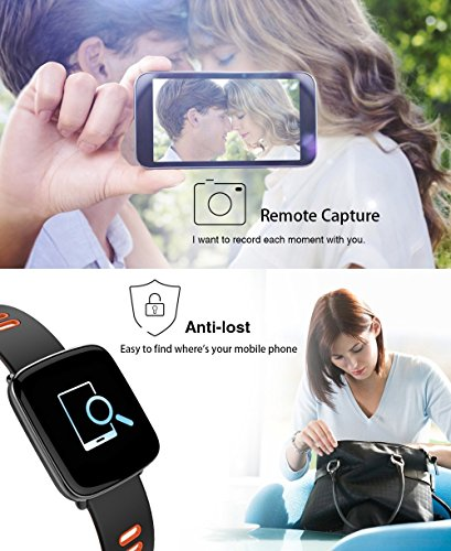 Fitness Tracker, IP68 Waterproof Smart Watch with Heart Rate Monitor Calorie Steps Counter Sleep Monitor for IOS & Android