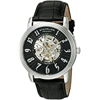 Men's 'Legacy' Automatic Stainless Steel and Black Leather Dress Watch (Model: 707G.33151)