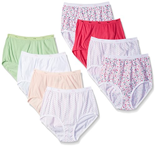 Low Panties Rise Hanes (Hanes Women's 6 Pack Cotton Low Rise Brief (Bonus +2), Assorted, 6)