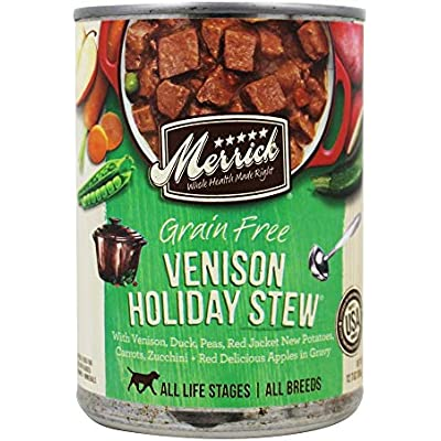 Merrick Grain-Free Venison Holiday Stew Canned Dog Food, 13.2-oz, Pack of 12 by Merrick