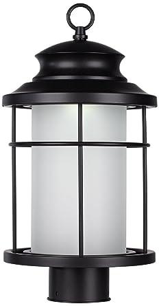 Warburton 16 12 high black led outdoor post light amazon warburton 16 12quot high black led outdoor post light workwithnaturefo