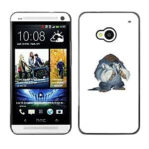 CASER CASES / HTC One M7 / Snow Yeti / Delgado Negro Plástico caso cubierta Shell Armor Funda Case Cover