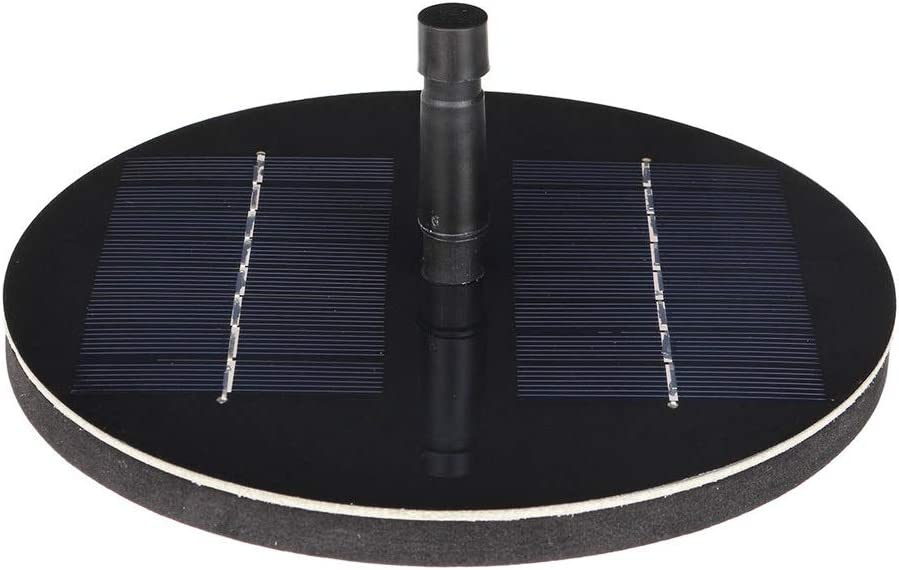 Bomba de Fuente Solar 150L / h Bomba de Agua con energía Solar, Bomba de Fuente Piscina con 6 boquillas para Piscina Jardín Pecera (Color : Black, Size : 30-60cm)