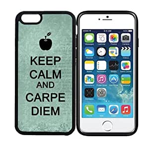 iPhone 6 (4.7 inch display) RCGrafix Keep Calm And Carpe Diem 5 - Designer BLACK Case - Fits Apple iPhone 6- Protected Cell Phone Cover PLUS Bonus Iphone Apps Business Productivity Review Guide