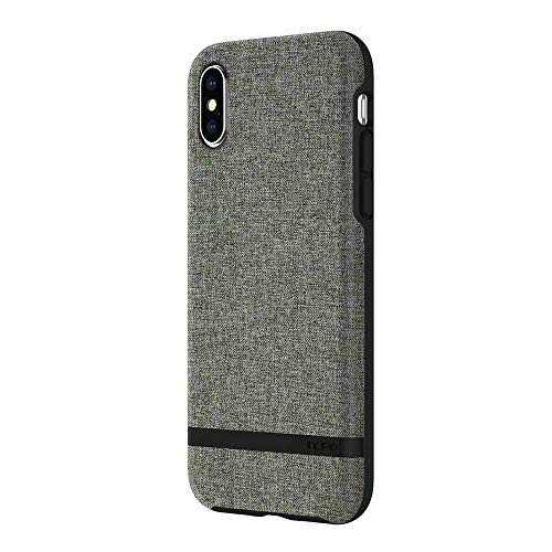 Incipio Carnaby iPhone X Case [Esquire Series] with Co-Molded Design and Ultra-Soft Cotton Finish for iPhone X - Forest Gray ()