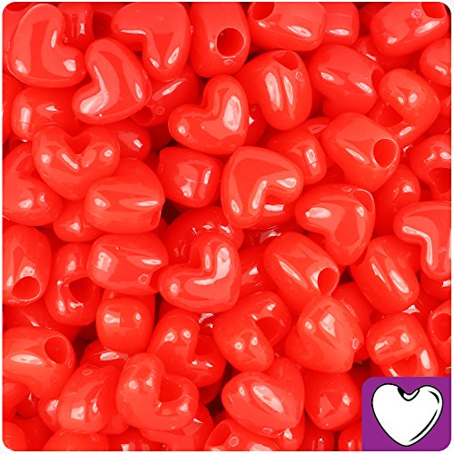 paque 12mm Heart Pony Beads (250pc) ()