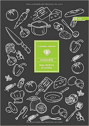 Cuaderno Creativo Diamante Para Recetas de Cocina: Amazon.es ...