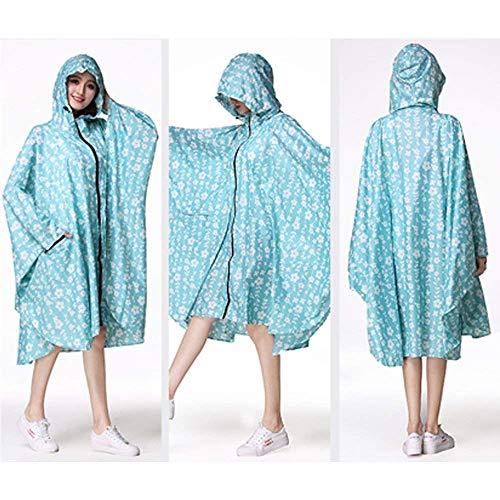 Poncho Blau De Plein Casual Air Femmes Battercake Pluie Léger Équitation Voyage En Vêtements L'eau Manteau Capuche Dame À Imperméable q1g1UAEwz