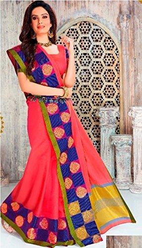 donne lavoro collezione Seta saree originale culutral indiano ricamo abito lavoro bollywood jari 845 100 tradizionale gonna saree sari manuale Designer wfqtxIU