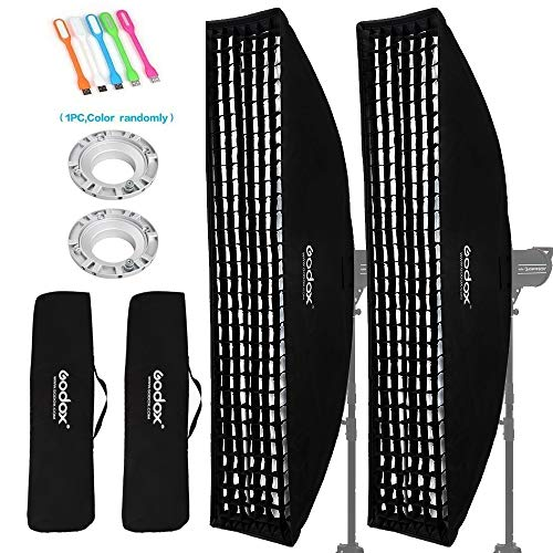Godox 50x130cm / 20x51 inches Strip Softboxlighting Honeycomb Grid Beehive & Bowens Mount Speedring Compatible for Godox S-Type Studio Flash Lights for Studio Photo - Strip Soft