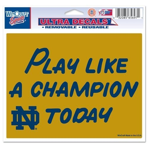 WinCraft NCAA Notre Dame Fighting Irish Play Like A Champion Today Ultra Color Decal, 5