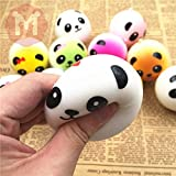 New Cute Panda Squishy Charms Soft Buns Cell Phone Key Chain Bread Straps