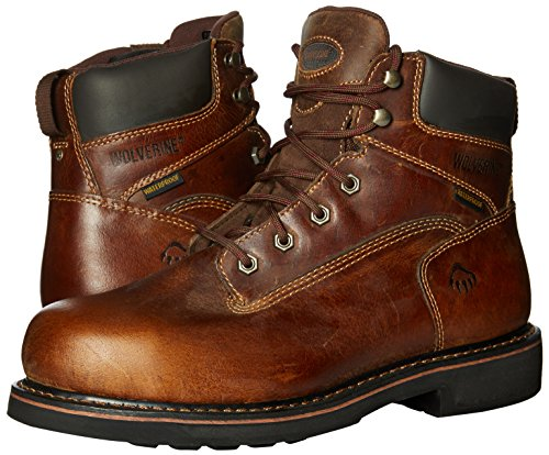 WOLVERINE WORLDWIDE - Brek Waterproof Boots, Extra Wide, Brown Leather, Men's Size 9.5