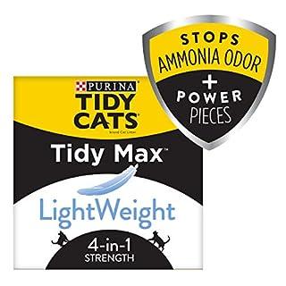 Purina Tidy Cats Clumping Cat Litter, Tidy Max Lightweight 4 in 1 Strength Multi Cat Litter - 17 lb. Box