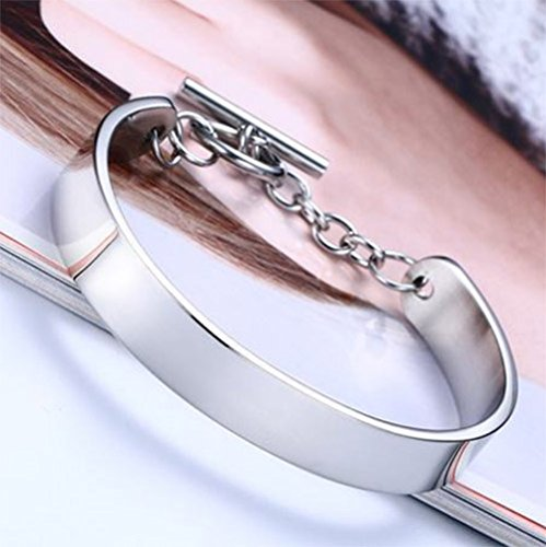 Menoa Cuff Bangle Bracelet Style Polished Stainless Steel Lover Mom Gift