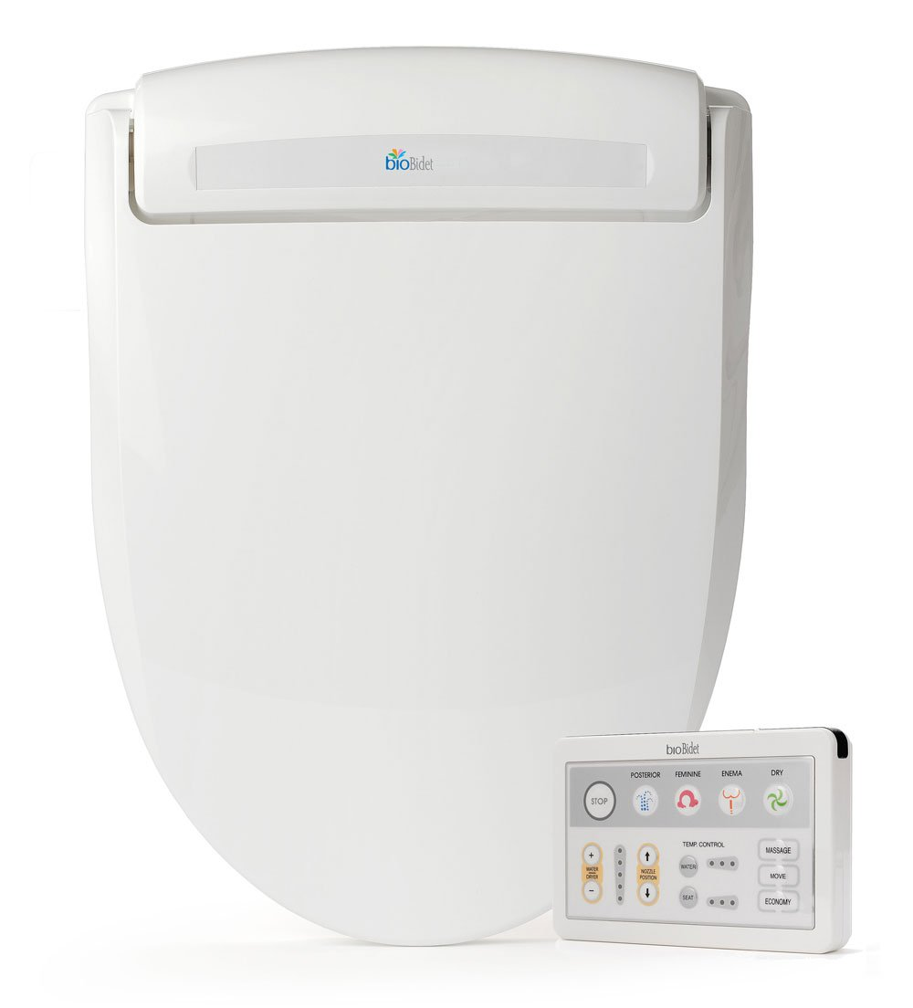 BioBidet Supreme BB-1000 Elongated White Bidet Toilet Seat Adjustable Warm Water, Self Cleaning, Wireless Remote Control, Posterior and Feminine Wash, Electric Bidet, Easy DIY Installation 3 in 1 Nozzle, Power Save Mode is Eco Friendly by BioBidet