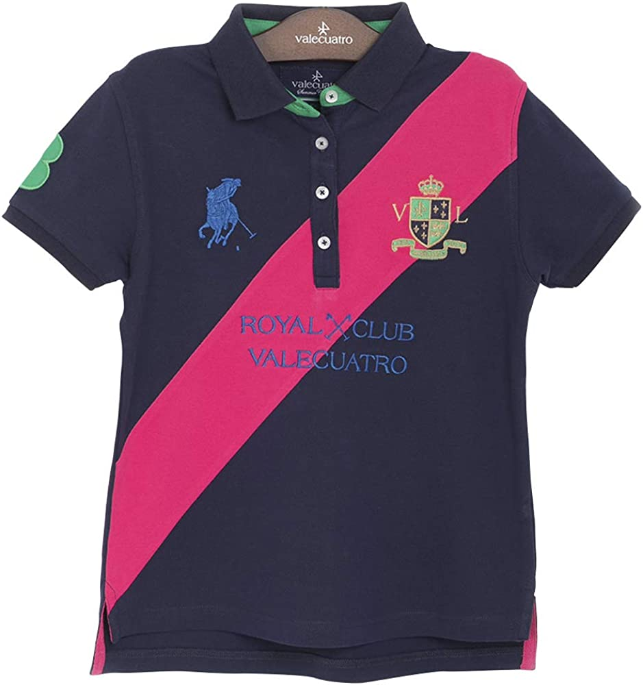 Fitted Short Sleeve Polo Shirt for Girls 95/% Cotton Valecuatro
