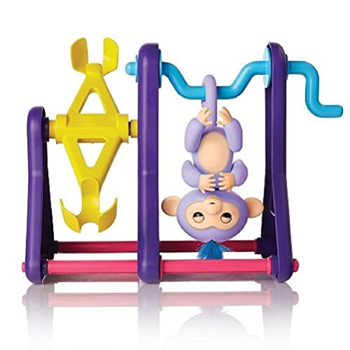Price comparison product image Maple_Leaf For Finger Monkey Jungle Swing Gym Playset Interactive Baby Monkey Climbing Seesaw