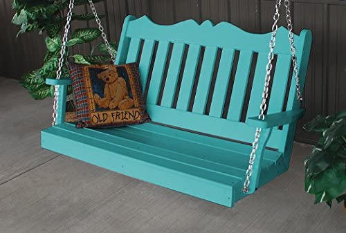 A L Furniture Poly Royal English Porch Swing