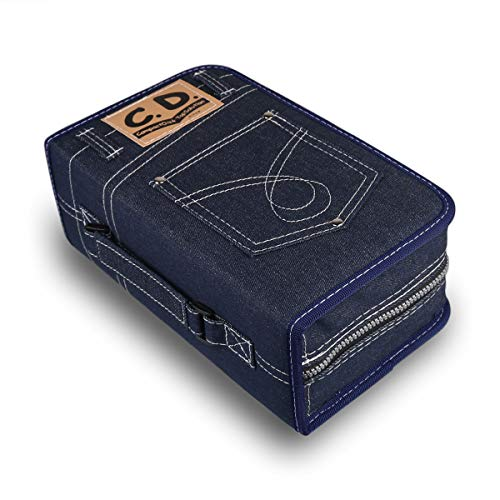 FORE Legend Denim CD/DVD/Blu-Ray Disc 128pcs Wallet Case for CD/DVD Carrying Storage 128 Capacity Made of Denim Color ()