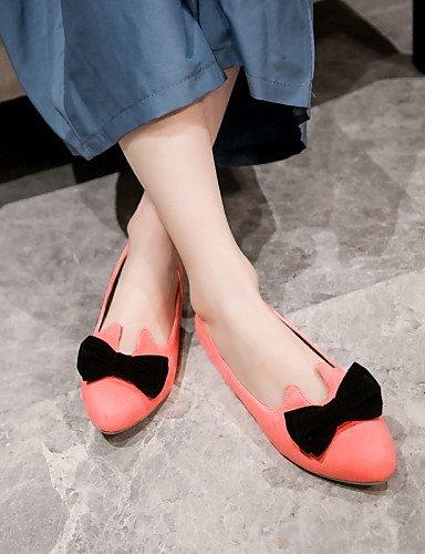 rosa verde talón plano PDX punta gray us6 eu36 mujer uk4 cn36 Flats zapatos de de redonda rojo Casual negro IwCCP7q