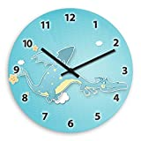 Dragon Wooden Wall Clock Silent Non-ticking Wall Clocks Decorative for Living Room Bedrooms Nursery Clock Children Watch